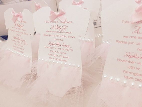 Ballerina baby shower invitation tutu invitation by anaderoux