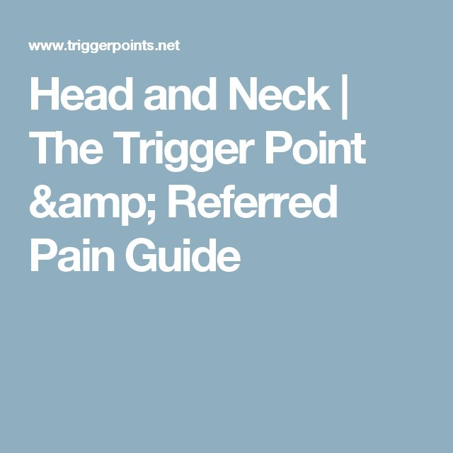 Head and Neck | The Trigger Point & Referred Pain Guide