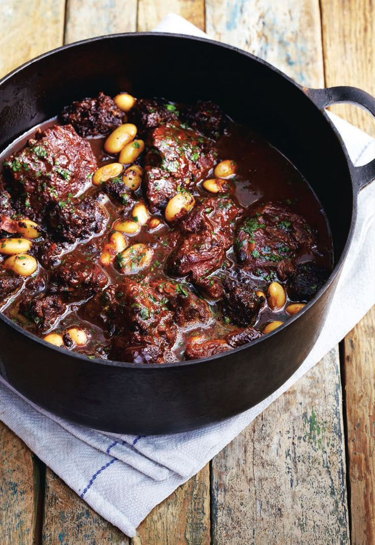 Braised pork cheeks in cider with black pudding and butter beans recipe from Roast by Marcus Verberne | Cooked