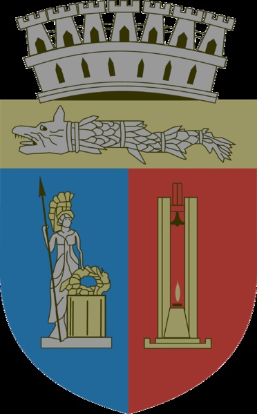 Coat of arms of Cluj-Napoca city, Transylvania, Romania