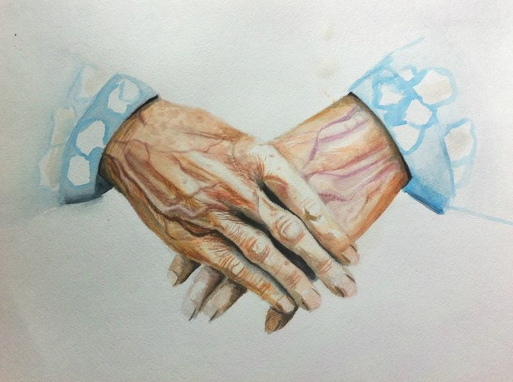 Good old woman's hands