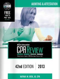 isk CPA Review: Auditing & Attestation, 42nd Edition, 2013(CPA Comprehensive Exam Review- Auditing and Attestation) (Bisk Comprehensive CPA Review)