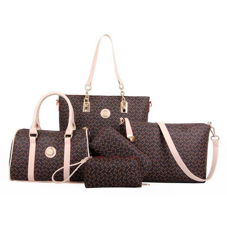 Luxury Women Leather Composite Bags Designer Handbags High Quality Bolsos Ladies Sac a Main Casual Tote Organizer Shoulder Bag