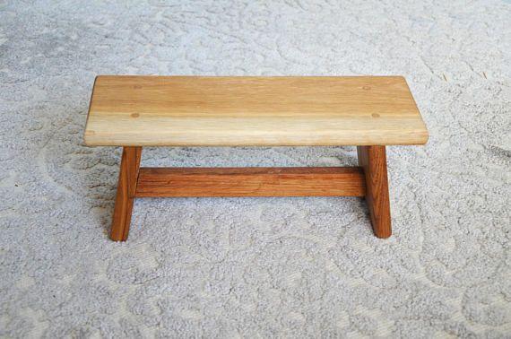 Wood Stool, Meditation Stool, Step Stool, Children Stool, Praying stool, None toxic, small stool, Toddler stool, Oak wood, oak stool