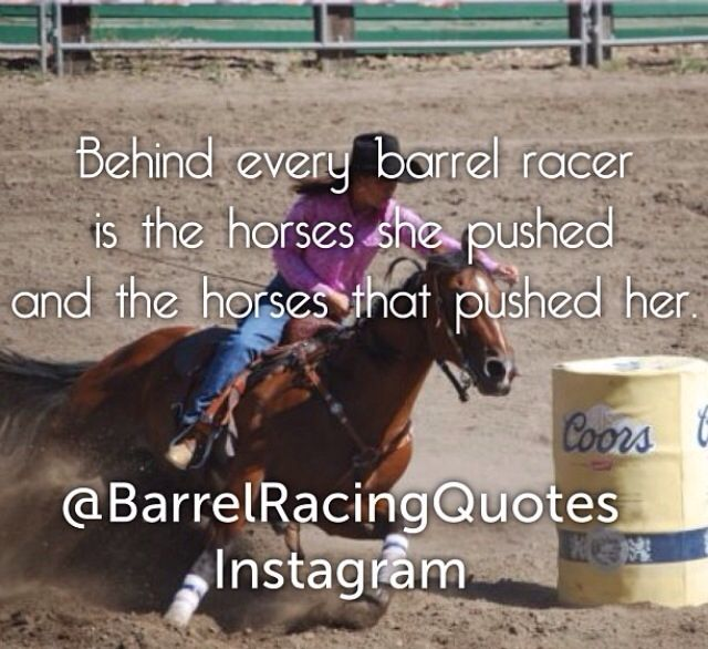 Barrel racer quote Pepsi Chances Ditto Jaz Bunny and the lil sis thanks for pushing me :)