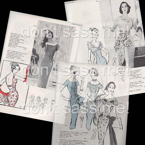 1950s Digital Download Vintage MODES ROYALE Pattern Catalog - 28 Pages Printable PDF. $4.00, via Etsy.