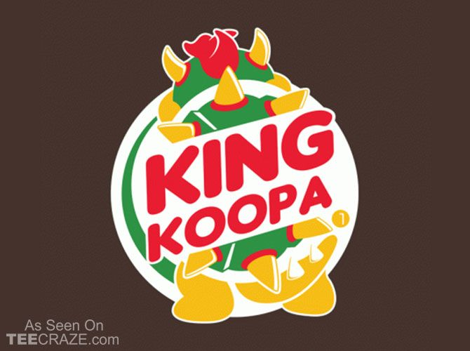 King Koopa T-Shirt - http://teecraze.com/king-koopa-t-shirt/ - Designed by dann…