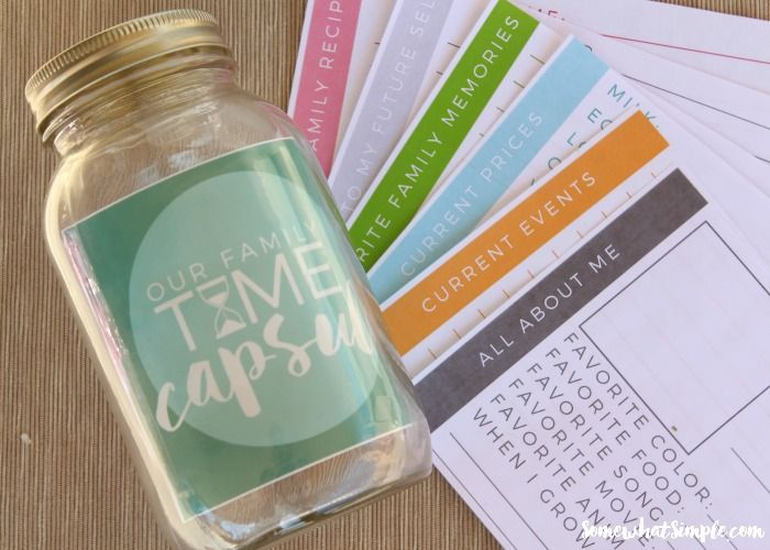 Family Time Capsule - Free Printables - Somewhat Simple