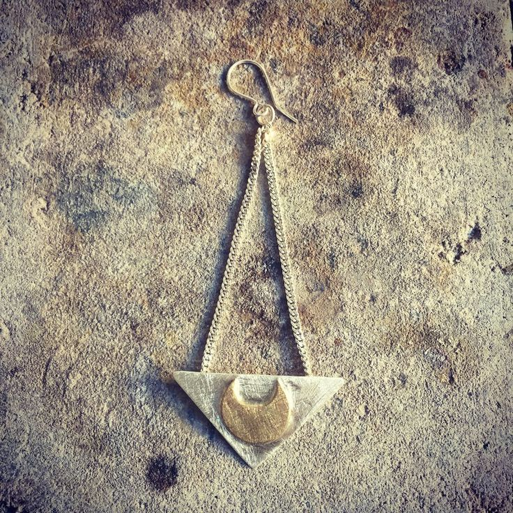 LUNA TRIANGLE EARRING via DDsthlm. Click on the image to see more!