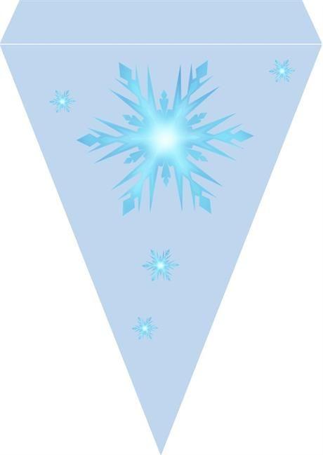 Frost bursdag vimpel DIY - gratis trykksaker