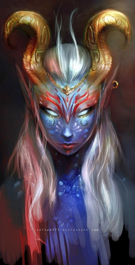 Wanderers are small, horned creatures similar to Fæ. They are most notable for their unusually colored skin and glowing eyes.