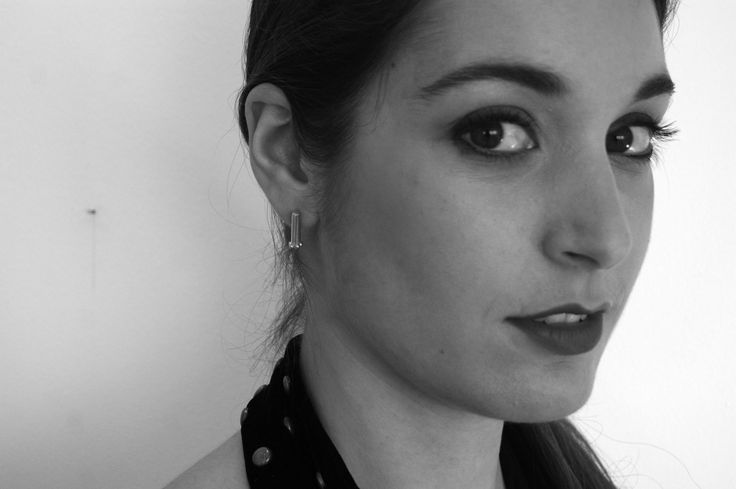 Dropped bubbles.. small cuff earrings. Model: Emmanouela Kokkinaki. Photo credit: Agapi Smpokou