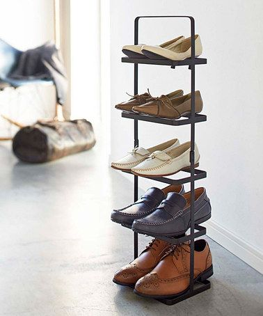 Another great find on #zulily! Black Vertical Shoe Rack #zulilyfinds