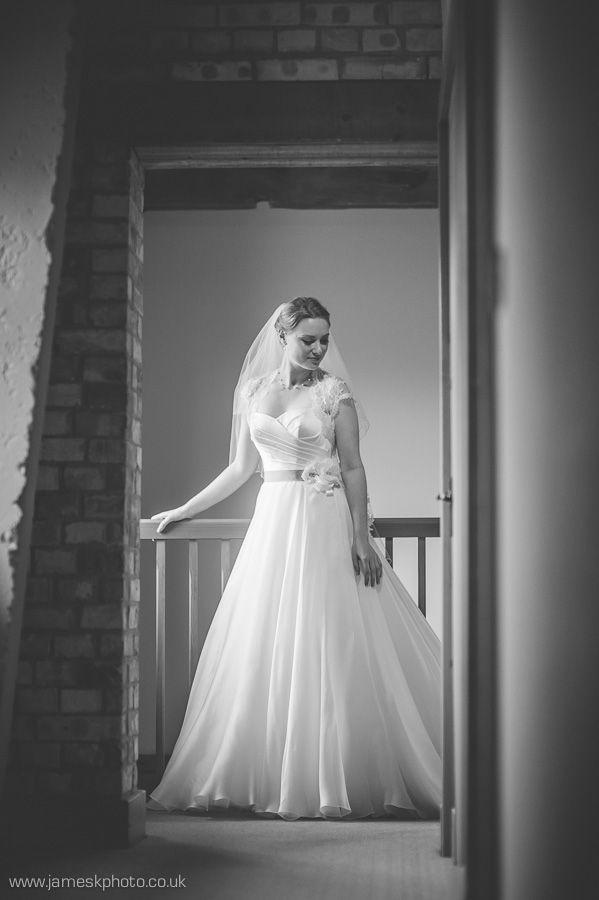 Stradsett Church, Norfolk Wedding. Gorgeous bride. Wedding dress. www.jameskphoto.co.uk
