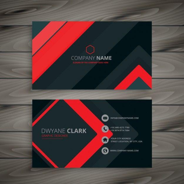 design minimalista do cartão de visita escuro Vetor grátis