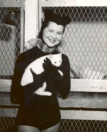 at age 23, she became a cat. Bunny Orsak answered an ad in 1954 at a TV station that hadn't even gone on the air yet -- channel 13.  Kitirik - named after KTRK