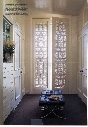 so clean...everything behind the doors and drawers...i like the molding on the closet doors too.