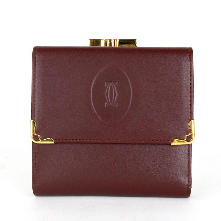 【商品名】カルティエ(Cartier) マストライン ガマ口 ゴールド金具 2つ折り財布 カーフ ボルドー【価格】¥15,800【状態】SA  2、3回使用程度の非常に綺麗な状態の商品です。