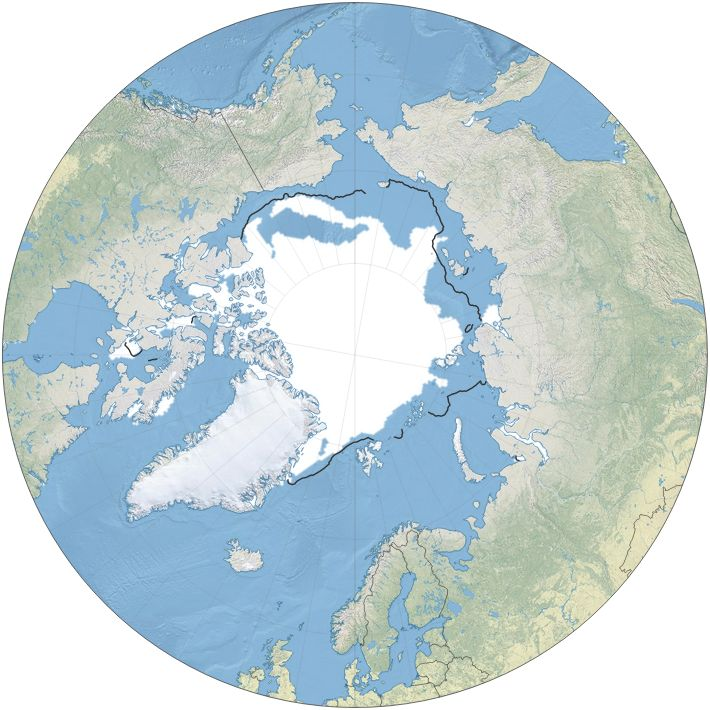 Interactive map showing monthly changes in ice cover since 1979.