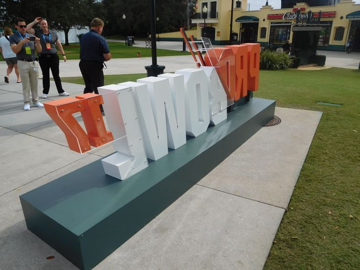 OAI fabricates dimensional display for 2017 NFL Pro Bowl events held at ESPN Wide World of Sports using temporary monument sign.