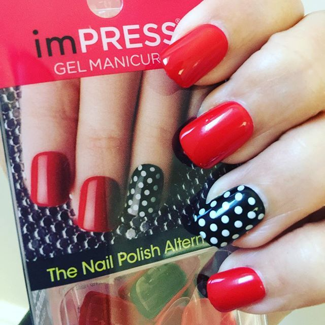 153 best impress accent manicure images on pinterest manicure red black polka dot nail designs by adelislebron show off prinsesfo Image collections