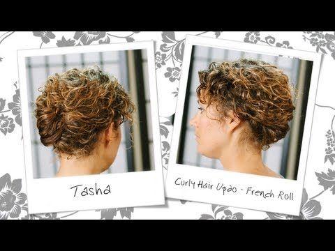 Curly Hair Updo Inspired French Roll - Hair Tutorial - Tasha Arnall - YouTube