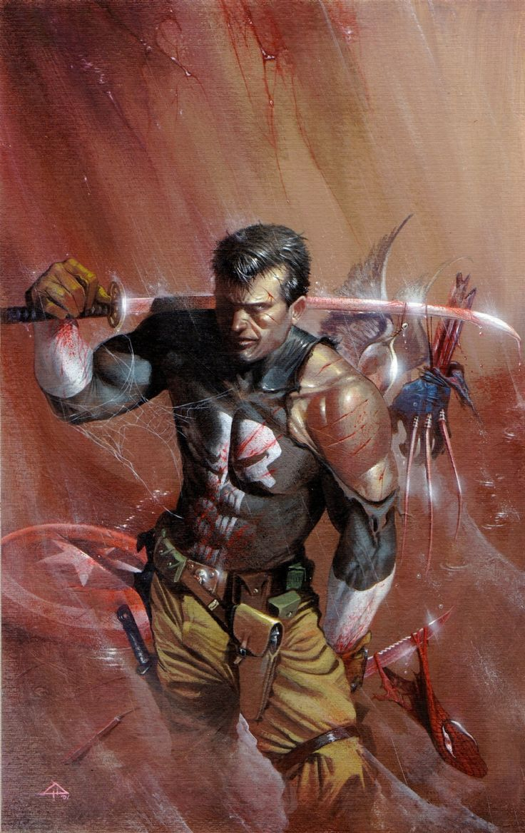 Punisher vs the Marvel Universe by Gabriele Dell'Otto