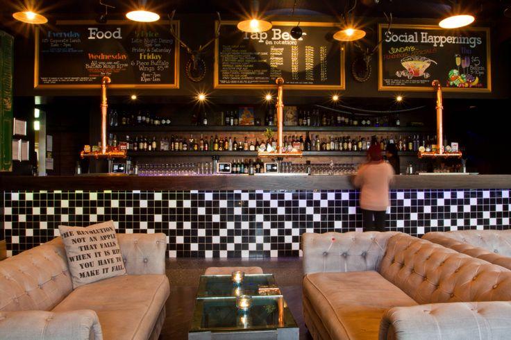 Wide shot of the main bar.