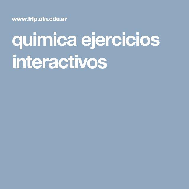 quimica ejercicios interactivos
