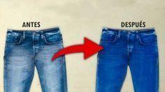 Mis jeans favoritos perdieron el color, entonces les eche esto y recuperaron su color original