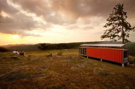 1,000 square foot home is composed of two 40-feet used shipping containers