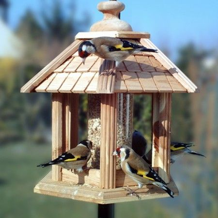 mangeoire oiseaux pour graines kiosque gazebo junior bird houses feeders pinterest. Black Bedroom Furniture Sets. Home Design Ideas