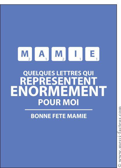 Carte Mamie et le Scrabble pour envoyer par La Poste, sur Merci-Facteur !