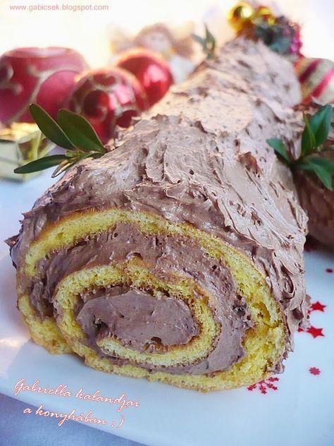 Gabriella kalandjai a konyhában :): Csokoládés fatörzs