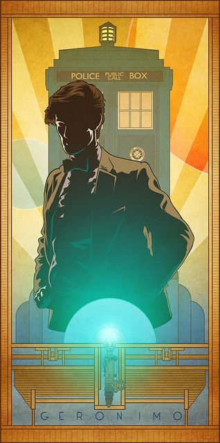 """A daft old man who stole a magic box and ran away..."" [Doctor Who art] by Bill Mudron"