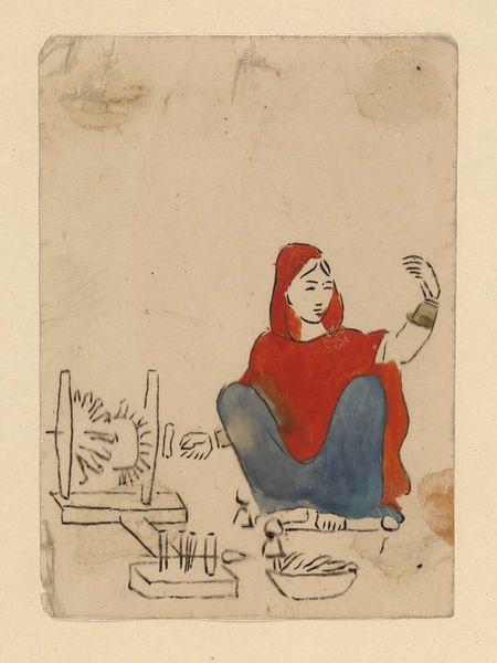 Spinner, Murshidabad, India, ca.1830.