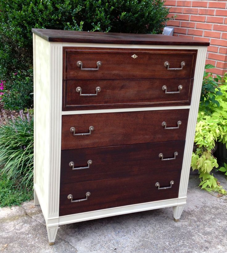 refinished chest of drawers repurposed and refinished