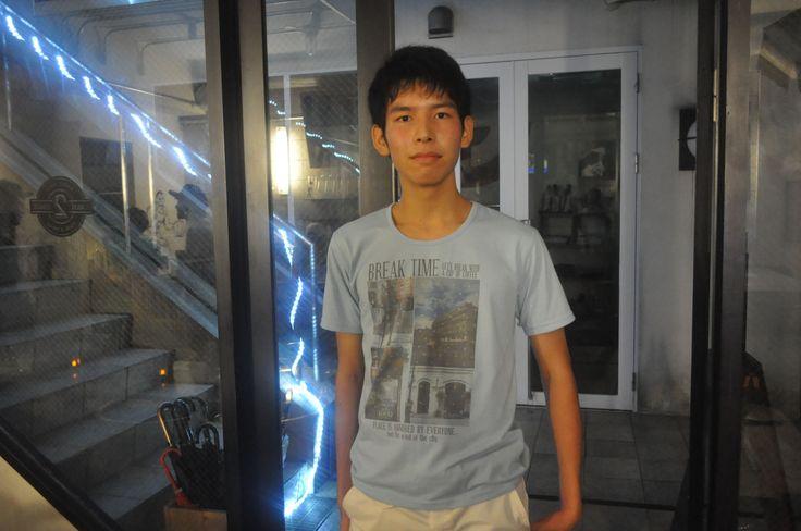 【新宿2号店】2014.09.08 非常に大人っぽい印象でしたが何と高校生でした!身長は183cmと羨ましい限りです(><)受験も控えていると思いますが、たまには息抜きにセレクション遊びに来てください♪