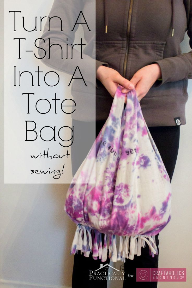 No-Sew T-shirt bag tutorial    Great way to reuse an old tee plus its a great kid or teen craft!