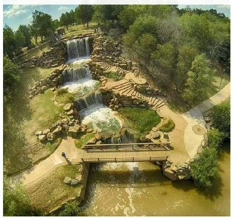 Wichita Falls Texas...Water Falls from a distance