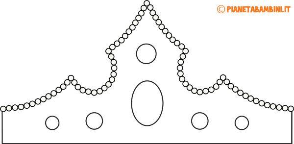 Corona Carta Principessa da Colorare 1