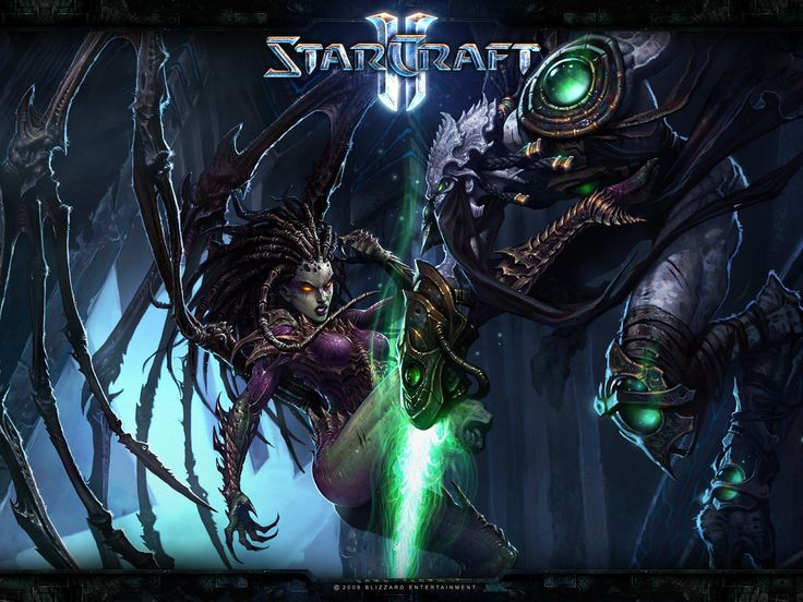 Starcraft 2 in all its addictive glory.