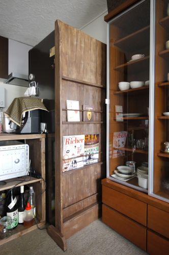 nokonoko17さんの作品『パーテーションで冷蔵庫の裏側を隠す』 | セルフリフォーム.com