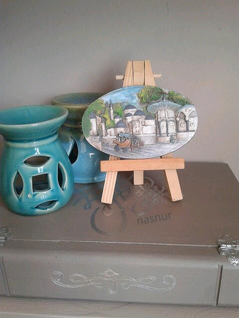minyatür çerçeve miniature frame handpaint handmade