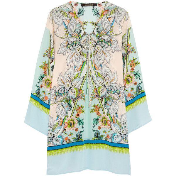 Roberto Cavalli Printed silk crepe de chine kaftan
