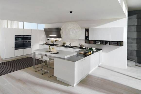Modern Minimalist kitchen interior   Home and Design
