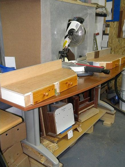 Sliding Compound Miter Saw Station Plans Woodworking