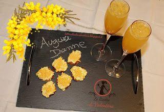 Le Ricette di Valentina: Prosecco mimosa con tartine mimosa, AUGURI DONNE!!...