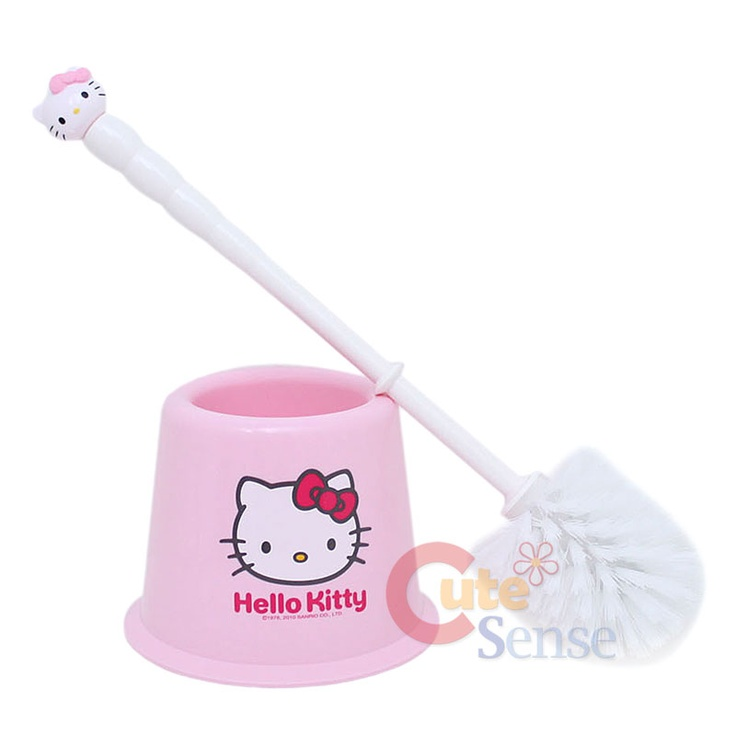 Hello Kitty Bathroom Toilet brush and holder