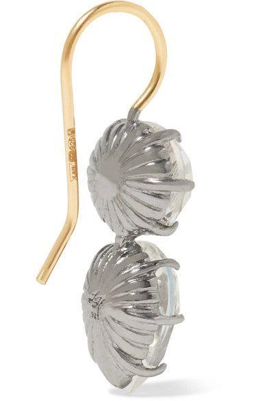 Larkspur & Hawk - Caterina Rhodium-dipped Quartz Earrings - Blue - one size